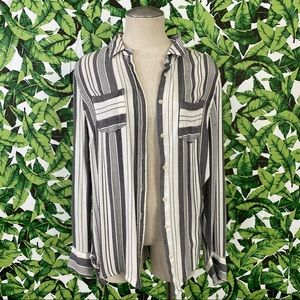 Merona Striped Flannel Top 325
